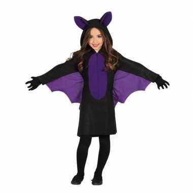 Zwart met paars vleermuis verkleedkleren voor meisjes