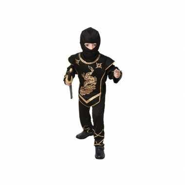 Zwart ninja verkleedverkleedkleren