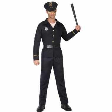 Zwart politie verkleed pak/verkleedkleren voor volwassenen
