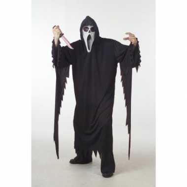 Zwart scream verkleedkleren/gewaad voor volwassenen