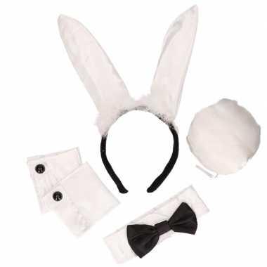 Zwart/witte playboy bunny verkleedkleren