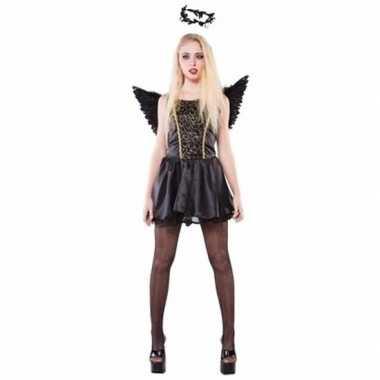 Zwarte engel dames verkleedkleren