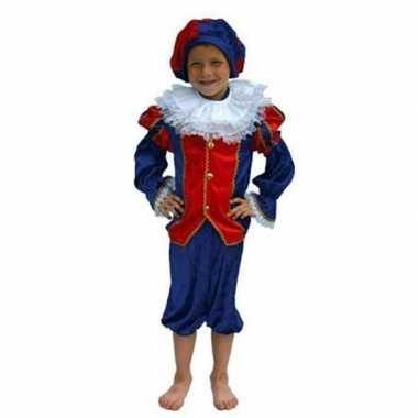 Zwarte piet verkleedkleren kind rood/blauw