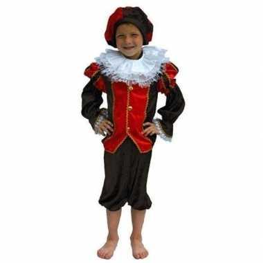 Zwarte piet verkleedkleren kind rood/zwart