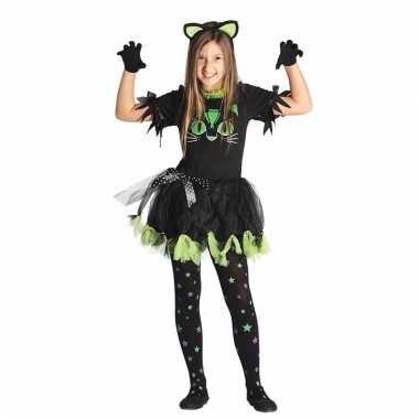 Zwarte poes/kat verkleedkleren voor meisjes