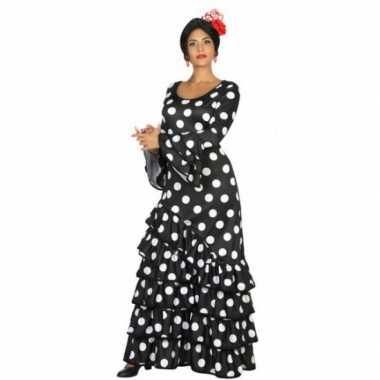Zwarte spaanse verkleedkleren jurk