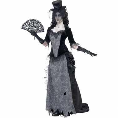 Zwarte weduwe verkleedkleren victoriaans