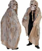 Beige doodshoofd spook verkleedkleren