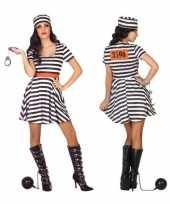 Gevangene boef bonnie verkleedkleren jurk voor dames