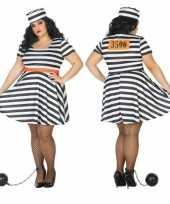 Grote maten gevangene boef bonnie verkleedkleren voor dames