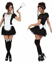 Sexy dienstmeisje verkleedkleren jurkje voor dames