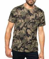 Soldaten leger verkleedkleren camouflage shirt heren